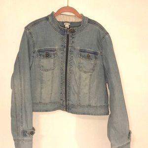 Women's Venezia Cropped Blue Jean Jacket 18/20